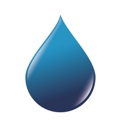 Drop water blue vector