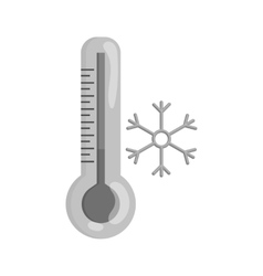 Thermometer with low temperature icon vector