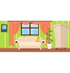 Apartment Interior Concept In Flat Design vector image