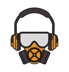 Headphone mask and glasses design vector