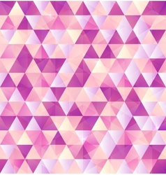 Pink abstract triangle vintage background vector