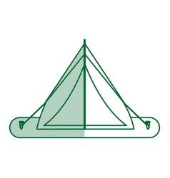 Camping materials flat shadow vector