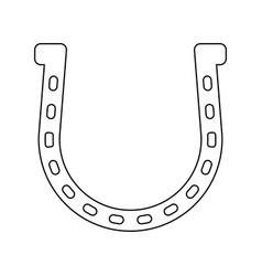 Horseshoe the black color icon vector