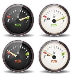 Fuel gauge icons set vector