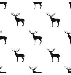 deer with big hornsanimals single icon in black vector image