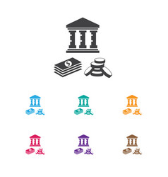 of investment symbol on vector image