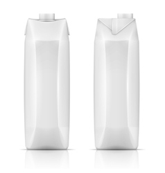 Juice drink carton pack vector image