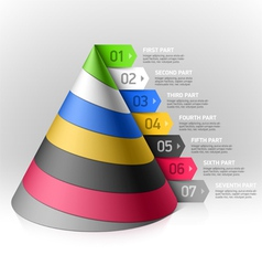 Layered cone design element vector image