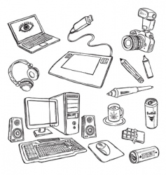 Audio-visual icons vector