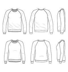 Raglan sweatshirt vector