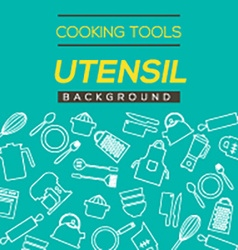 Cooking tools and utensil background vector