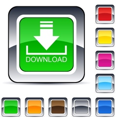 download square button vector image