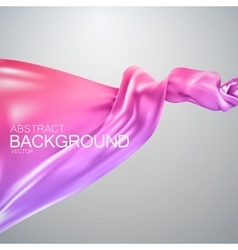 Pink silk fabric vector