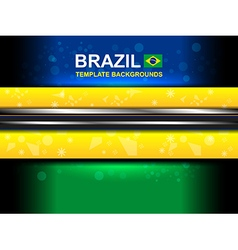 Brazil color template backgrounds vector
