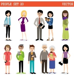 Set of modern people vector