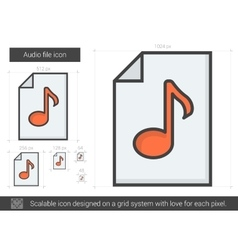 Audio file line icon vector