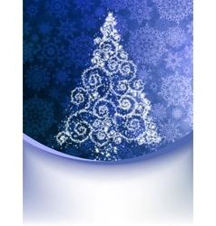 Christmas Tree Greeting Card EPS 8 vector image vector image