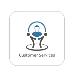 Customer Service Icon Business Concept vector image vector image