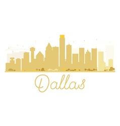 Dallas city skyline golden silhouette vector
