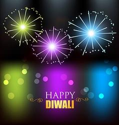 diwali festival fireworks vector image