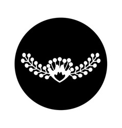 Floral wreath decoration card vector