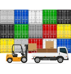 freight transportation concept 04 vector image