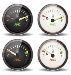 fuel gauge icons set vector image