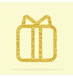 golden figure gift vector image