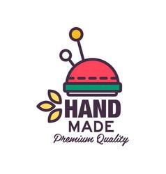 Handmade premium quality colorful logo template vector