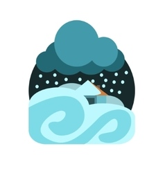 Heavy snowstorm natural force sticker vector