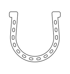 Horseshoe the black color icon vector