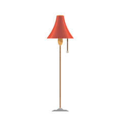 lamp flat icon front view isolated furniture vector image vector image