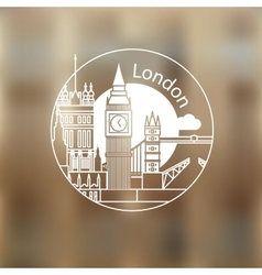 London round linear logo vector image vector image