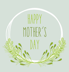 Mother day with plants and flowers symbol vector