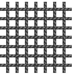 Net of rope in black design vector
