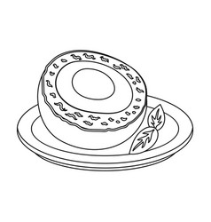 Scotch eggs icon in outline style isolated on vector