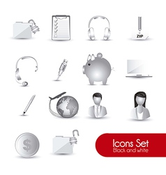 Set of gray icons vector