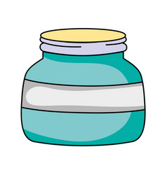Small and wide mason glass style vector