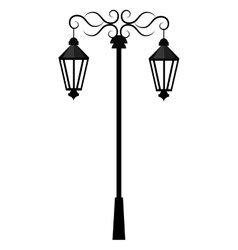 Street antique lights isolated icon vector image vector image