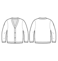 tech sketch of a cardigan vector image