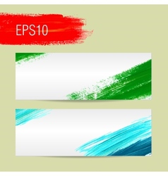 Template for card background Acrylic brush vector image