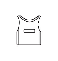 Thin line basketball jersey icon vector