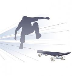 vector skateboarder vector image vector image