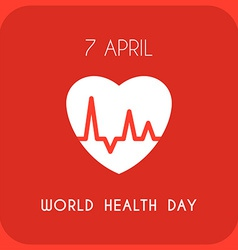 World Health Day Celebrating Card or Poster Design vector image