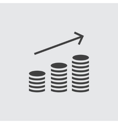 Money increase icon vector