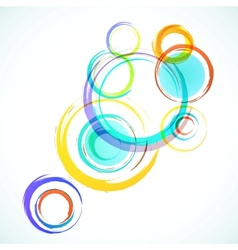 Abstract colorful background with grunge circles vector image