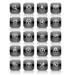 Stencil black buttons for internet vector