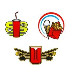 Fast food symbols vector