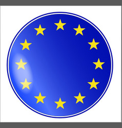 Eu button vector