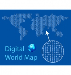 Digital world map vector